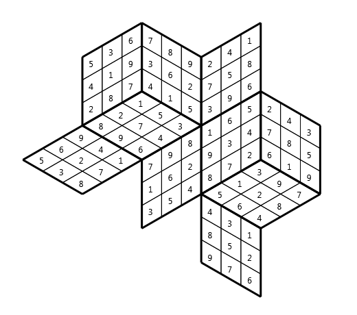 Tredoku vsn04, isometric grid