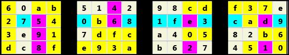 3D 4X4 Cube L(2,3) D(29,14,2,1,0,0)   2013-01-21 160724 Solution