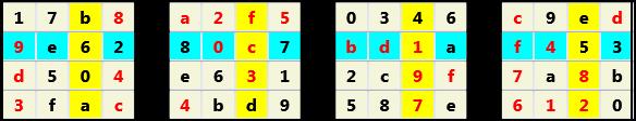 3D 4X4 Cube L(2,1) D(29,8,0,0,0,0)   2013-01-09 221551 Solution