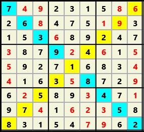 Sudoku 9X9X L(1,1) D(26,7,0,0,0,0)  2013-03-29 111535 Solution
