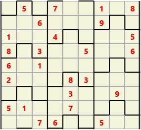 Film L(2,4) D(26,10,1,1,1,0) V Difficult Similar to the regular 9 by 9 Sudoku but the squares have lumps in the top and bottom. The problem wraps top to bottom but not side to side so the overall geometry is a cylinder.