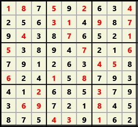 Sudoku 9X9 L(1,1) D(28,4,0,0,0,0)  2012-12-07 101900 Solution