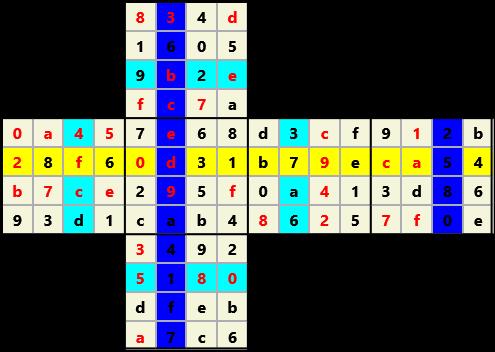 4X4 Cube L(2,3) D(38,12,1,1,0,0)   2013-01-21 155023 Solution
