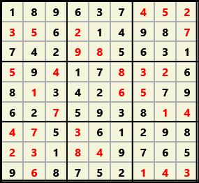 Sudoku 9X9 L(1,1) D(31,6,0,0,0,0)  2013-04-18 174516 Solution