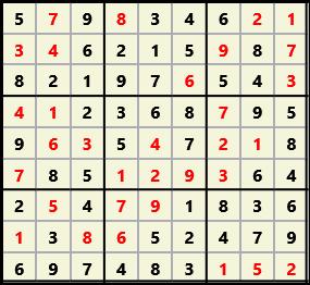 Sudoku 9X9 L(1,1) D(32,4,0,0,0,0)  2013-04-18 174532 Solution