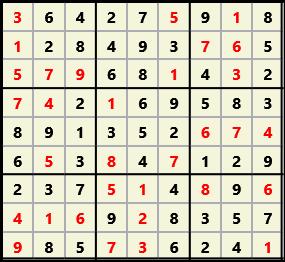 Sudoku 9X9 L(1,1) D(32,5,0,0,0,0)  2013-04-18 174506 Solution