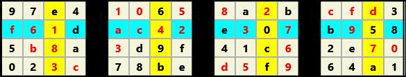 3D 4X4 Cube L(2,1) D(29,5,0,0,0,0)   2013-01-09 221544 Solution