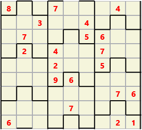 Film L(2,1) D(21,13,0,0,0,0) Moderate Similar to the regular 9 by 9 Sudoku but the squares have lumps in the top and bottom. The problem wraps top to bottom but not side to side so the overall geometry is a cylinder.