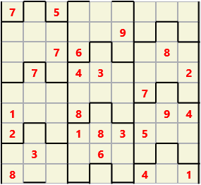 Film L(2,1) D(25,9,0,0,0,0) Moderate Similar to the regular 9 by 9 Sudoku but the squares have lumps in the top and bottom. The problem wraps top to bottom but not side to side so the overall geometry is a cylinder.