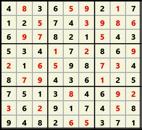 Sudoku 9X9 L(1,1) D(31,6,0,0,0,0)  2013-04-18 174500 Solution