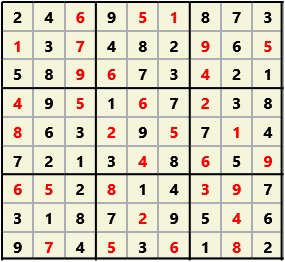 Sudoku 9X9 L(1,1) D(32,5,0,0,0,0)  2012-12-07 101850 Solution