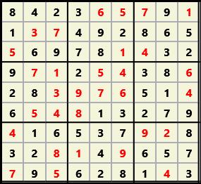Sudoku 9X9 L(1,2) D(31,13,1,0,0,0)  2013-01-21 132343 Solution