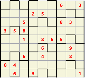 Film L(2,4) D(24,14,1,1,1,0) V Difficult Similar to the regular 9 by 9 Sudoku but the squares have lumps in the top and bottom. The problem wraps top to bottom but not side to side so the overall geometry is a cylinder.