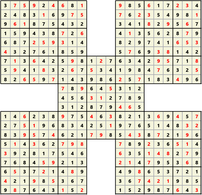 Samurai L(2,1) D(121,9,0,0,0,0)  2013-04-19 000032 Solution