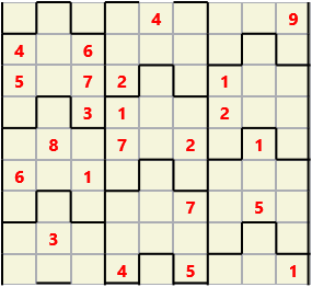 Film L(2,4) D(23,18,4,3,2,0) V Difficult Similar to the regular 9 by 9 Sudoku but the squares have lumps in the top and bottom. The problem wraps top to bottom but not side to side so the overall geometry is a cylinder.