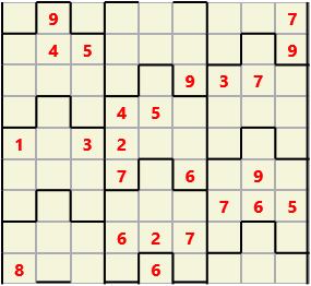 Film L(2,4) D(24,13,1,1,1,0) V Difficult Similar to the regular 9 by 9 Sudoku but the squares have lumps in the top and bottom. The problem wraps top to bottom but not side to side so the overall geometry is a cylinder.