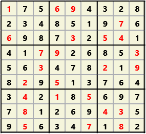 Sudoku 9X9 L(1,1) D(25,6,0,0,0,0)  2013-01-21 132439 Solution