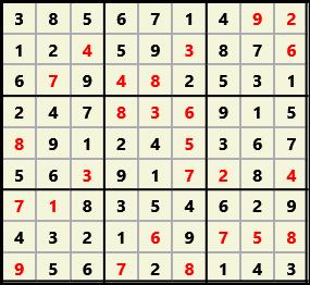 Sudoku 9X9 L(1,1) D(26,13,0,0,0,0)  2013-04-18 174517 Solution
