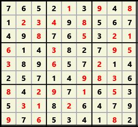 Sudoku 9X9 L(1,1) D(32,5,0,0,0,0)  2013-03-29 111711 Solution
