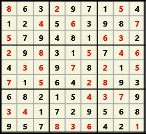 Sudoku 9X9 L(1,1) D(32,6,0,0,0,0)  2013-03-29 111705 Solution