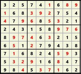 Sudoku 9X9 L(1,1) D(32,6,0,0,0,0)  2013-03-29 111713 Solution