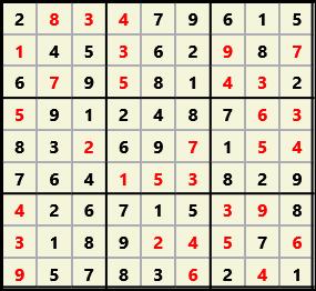 Sudoku 9X9 L(1,1) D(32,8,0,0,0,0)  2013-01-21 132437 Solution