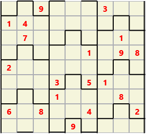 Film L(2,4) D(20,21,4,3,2,0) V Difficult Similar to the regular 9 by 9 Sudoku but the squares have lumps in the top and bottom. The problem wraps top to bottom but not side to side so the overall geometry is a cylinder.