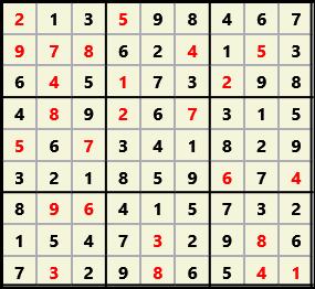 Sudoku 9X9 L(1,1) D(25,11,0,0,0,0)  2013-08-07 232343 Solution