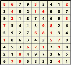 Sudoku 9X9 L(1,1) D(26,16,0,0,0,0)  2013-04-18 174532 Solution