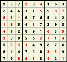Sudoku 9X9 L(1,1) D(28,5,0,0,0,0)  2013-04-18 174520 Solution